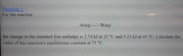 Calculate the value of reactions equilibrium