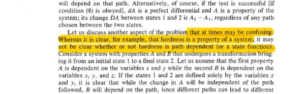 Hardness of a system is a path function or state function?