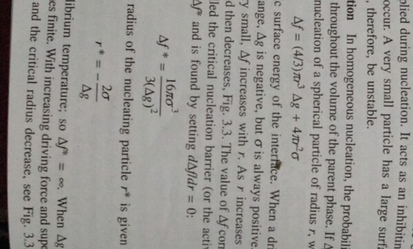 Can anyone explain about homogeneous nucleation step by step of topic including mathematical equations