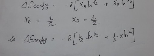 GATE MT 2011 Q13. One mole of element P is mixed with one mole of element Q. The entropy of mixing at 0 K is: